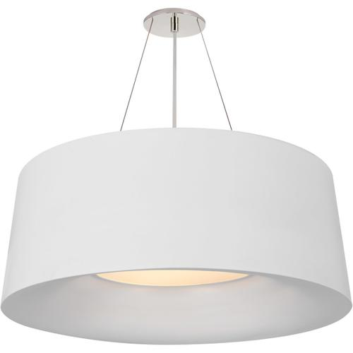 Barbara Barry Halo 3 Light 28 inch Matte White Hanging Shade Ceiling Light, Medium