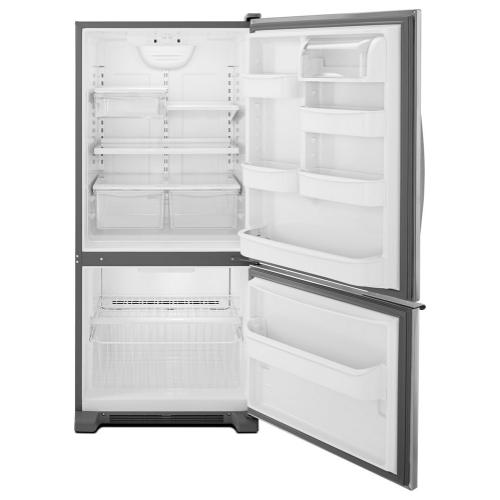 Whirlpool - 30-inches wide Bottom-Freezer Refrigerator with Accu-Chill™ System - 18.7 cu. ft.