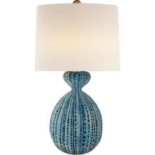 AERIN Gannet 29 inch 150 watt Pebbled Aquamarine Table Lamp Portable Light