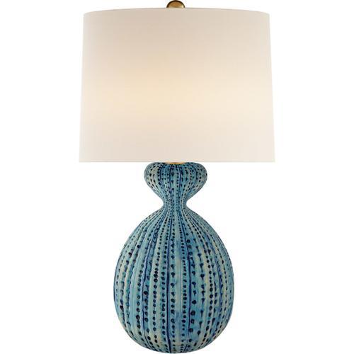 Visual Comfort - AERIN Gannet 29 inch 150.00 watt Pebbled Aquamarine Table Lamp Portable Light