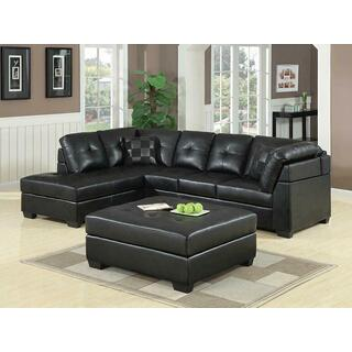 See Details - Darie Contemporary Black Sectional