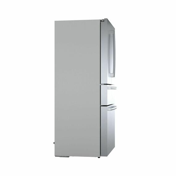 800 Series French Door Bottom Mount Refrigerator 36'' Easy clean stainless steel B36CL80SNS