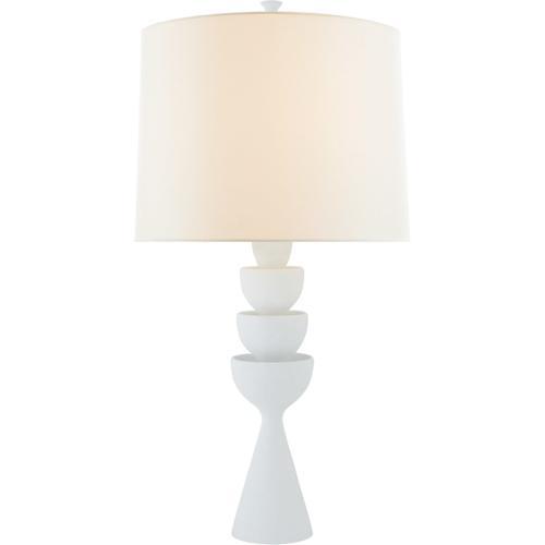 AERIN Veranna 31 inch 100 watt Plaster White Table Lamp Portable Light, Large