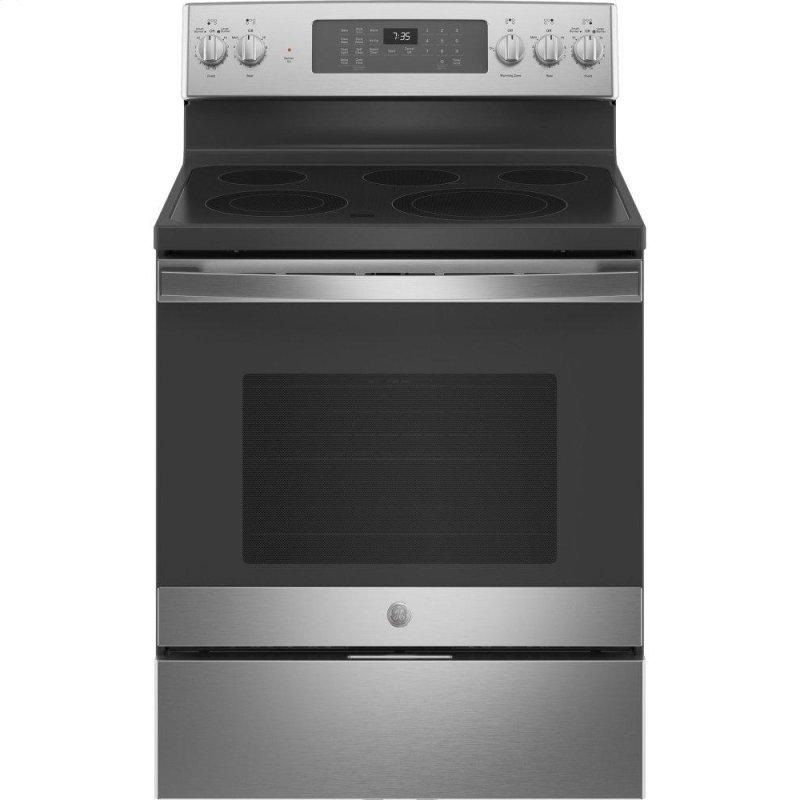 """30"""" Free-Standing Electric Convection Range with No Preheat Air Fry"""