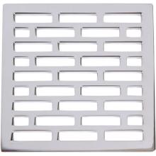 "White 4"" Square Shower Drain"