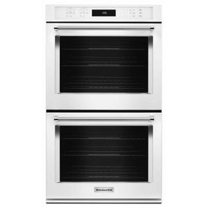 """30"""" Double Wall Oven with Even-Heat™ True Convection - White Product Image"""