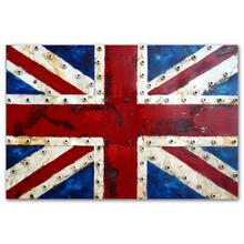 Union Jack 32x48 Metal Wall Art