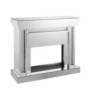 ACME Nysa Fireplace - 90272 - Mirrored & Faux Crystals