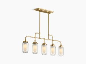 Modern Brushed Gold Five-light Linear Product Image