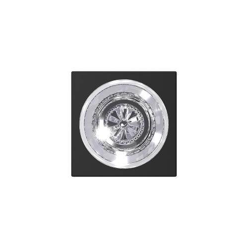 Custom Hobson Non-Turning Glass Knob with Collins Trim - Matte Black