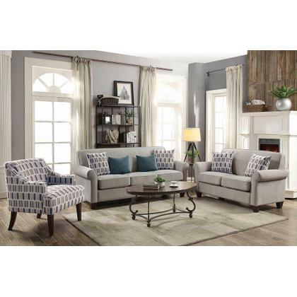 See Details - Gideon Transitional Cement-toned Sofa