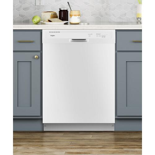 Whirlpool - Heavy-Duty Dishwasher with 1-Hour Wash Cycle White
