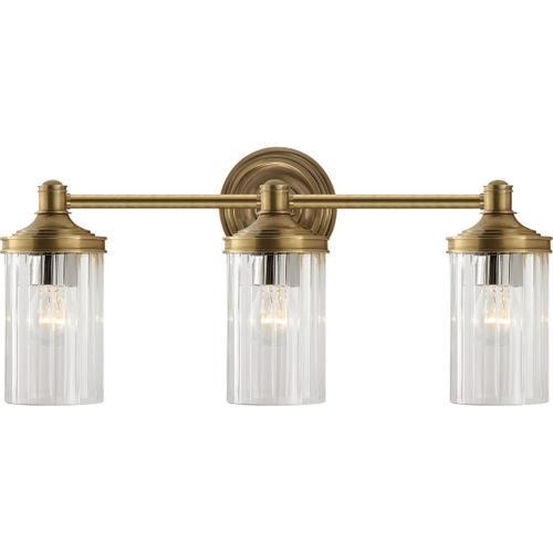 Visual Comfort - Alexa Hampton Ava 3 Light 20 inch Hand-Rubbed Antique Brass Triple Sconce Wall Light