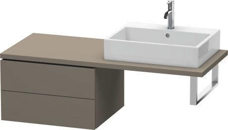 Low Cabinet For Console, Flannel Gray Satin Matte (lacquer)
