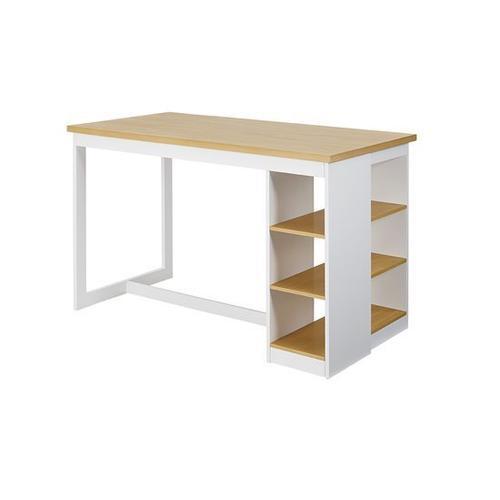 Counter Storage Table - Oak/White Finish