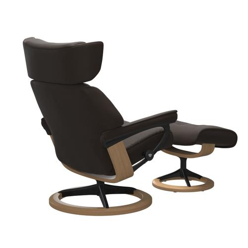 Stressless By Ekornes - Stressless® Skyline (M) Signature chair with footstool