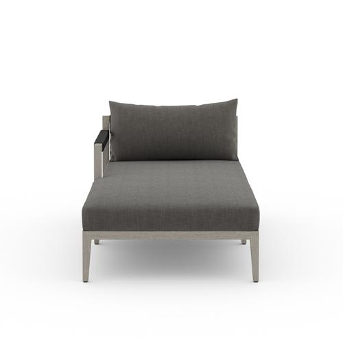 Laf Chaise Piece Configuration Charcoal Cover Sherwood Outdoor Sectional Pieces, Weathered Grey