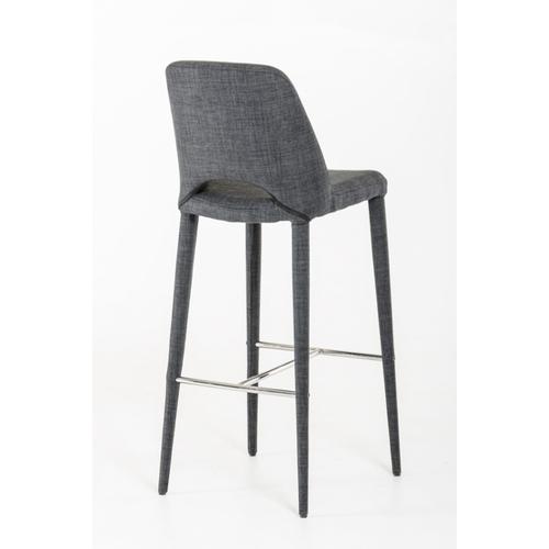 VIG Furniture - Modrest Williamette Modern Dark Grey Fabric Bar Stool