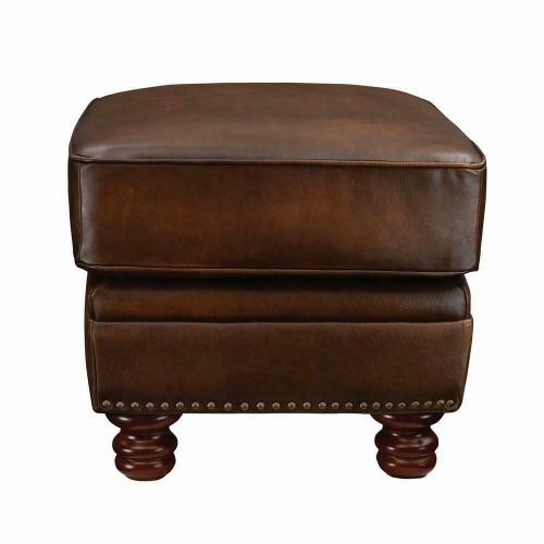 Coaster - Montbrook Traditional Hand Rubbed Brown Ottoman