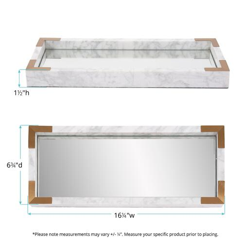 Howard Elliott - White Mirrored Marble Tray