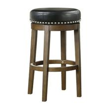 Round Swivel Pub Height Stool, Black