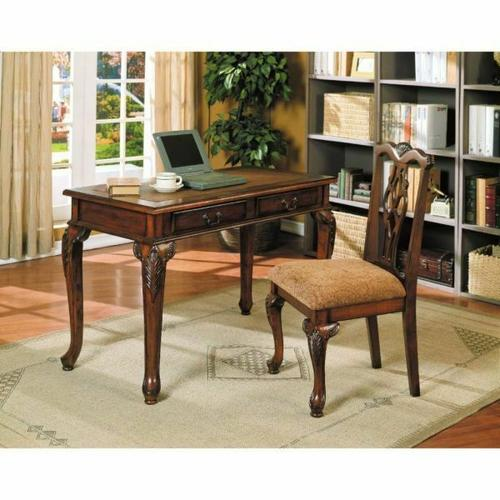 ACME Aristocrat 2Pc Pack Desk & Chair - 09650 - Dark Brown Cherry