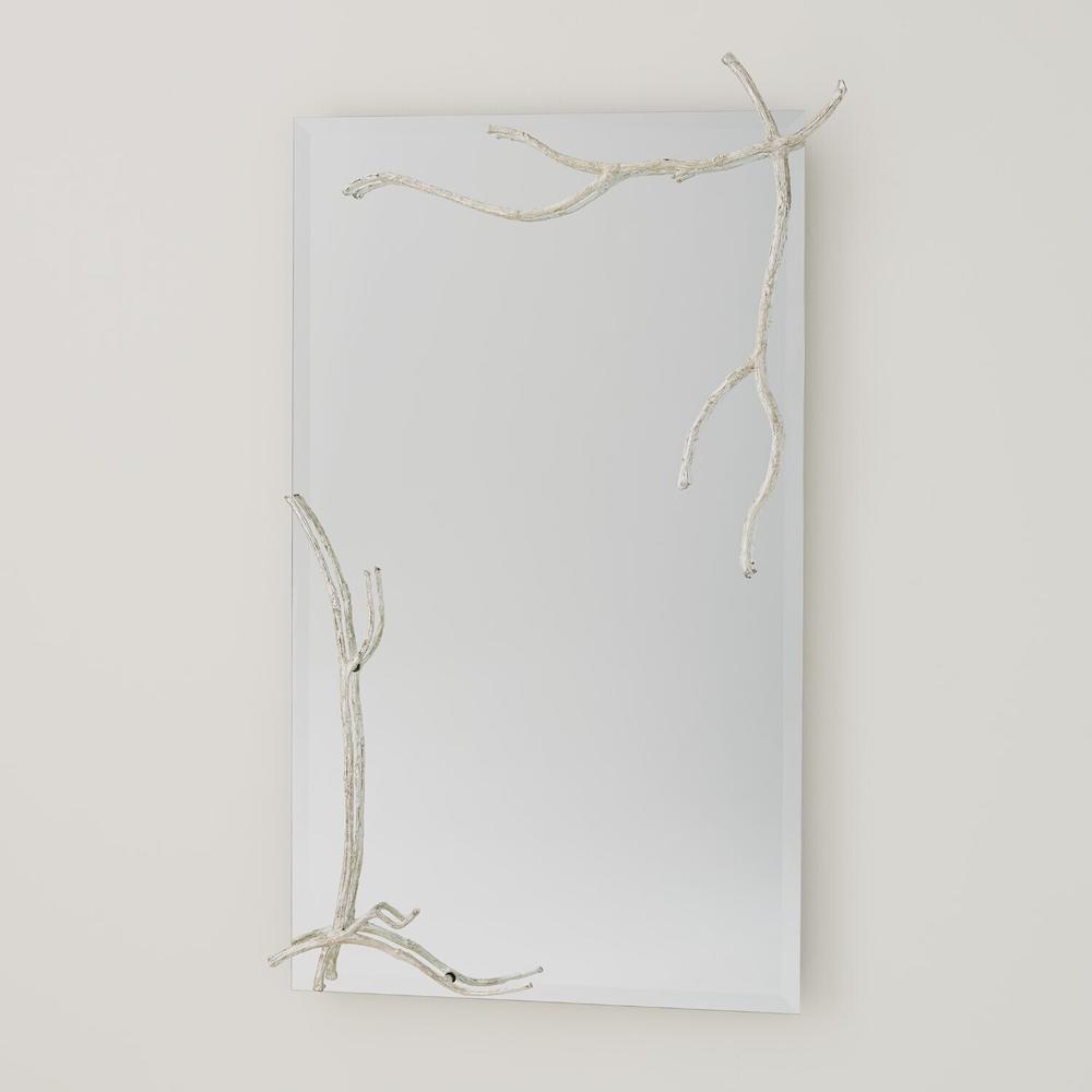 See Details - Twig Mirror-Silver Leaf-Lg