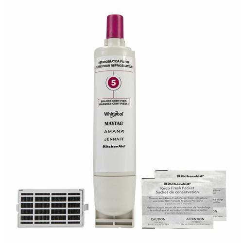 KitchenAid - Everydrop® Refrigerator Water Filter 5 - EDR5RXD1 (Pack Of 1) + Refrigerator FreshFlow™ Air Filter + FreshFlow Produce Preserver Refill - Multi-Pack