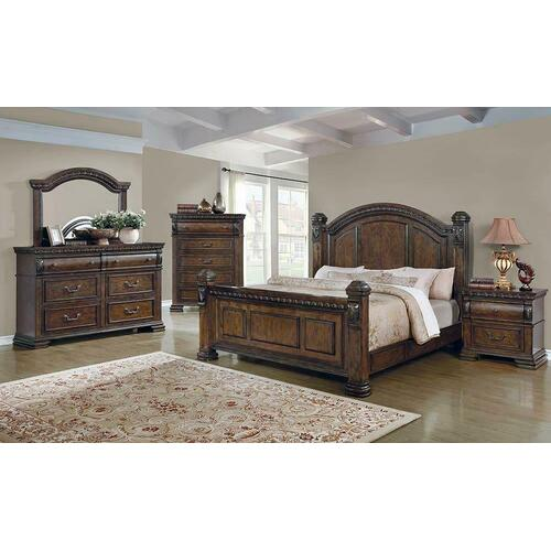 Satterfield Traditional Warm Bourbon California King Bed