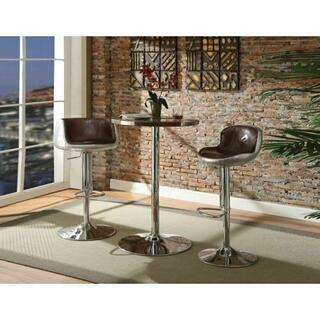 ACME Brancaster Bar Table - 70425 - Retro Brown TGL & Aluminum