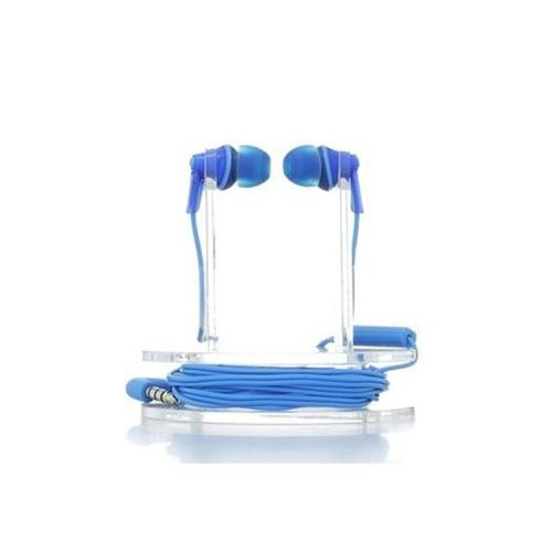 ErgoFit In-Ear Earbud Headphones with Mic + Controller - Blue - RP-TCM125-A