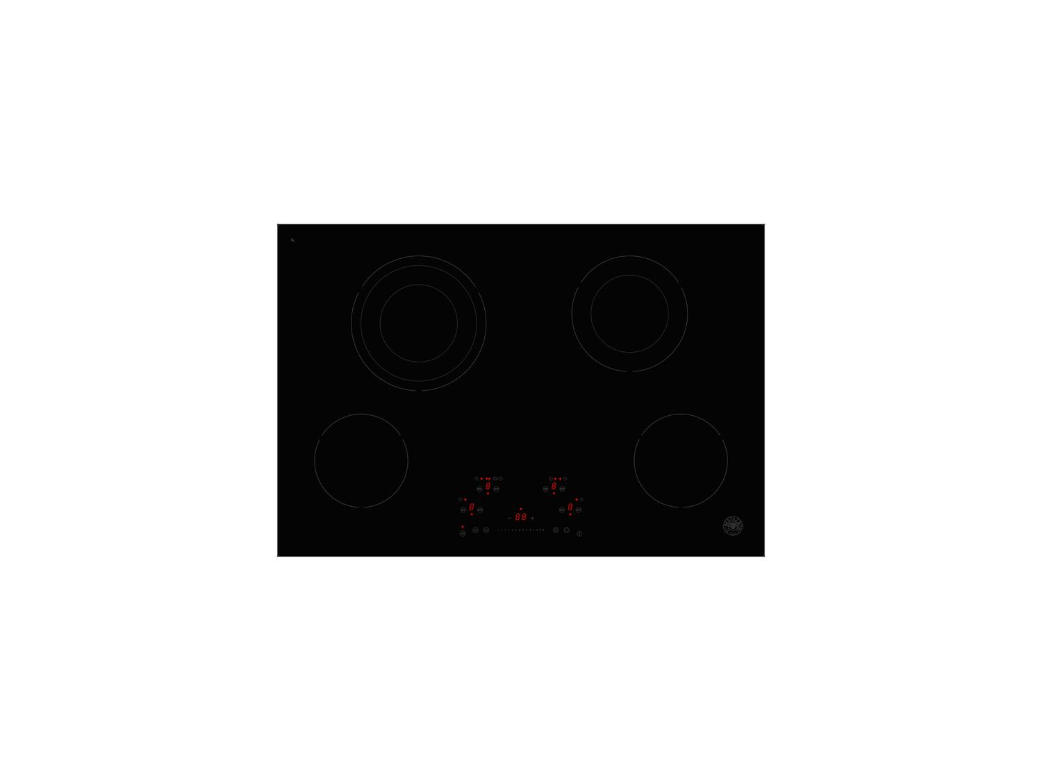 24 Ceran Touch Control Cooktop 4 heating zones Nero