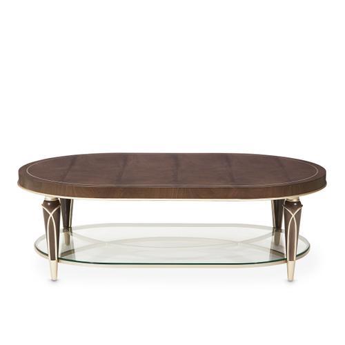 Villa cherie Oval Cocktail Table Hazelnut