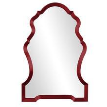 View Product - Nadia Mirror - Glossy Burgundy