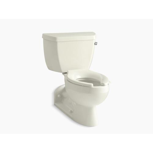 Biscuit Two-piece Elongated 1.0 Gpf Toilet With Pressure Lite Flushing Technology and Right-hand Trip Lever