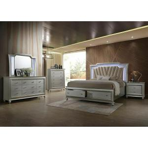 ACME Kaitlyn Queen Bed - 27230Q - PU & Champagne