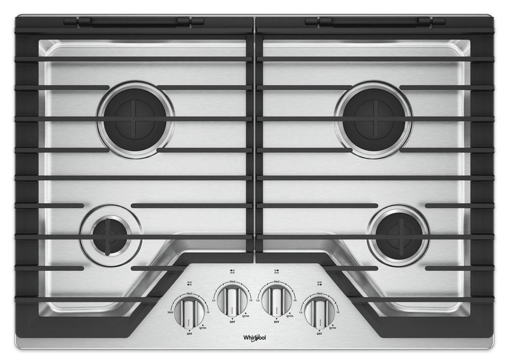 Whirlpool30-Inch Gas Cooktop With Ez-2-Lift™ Hinged Cast-Iron Grates
