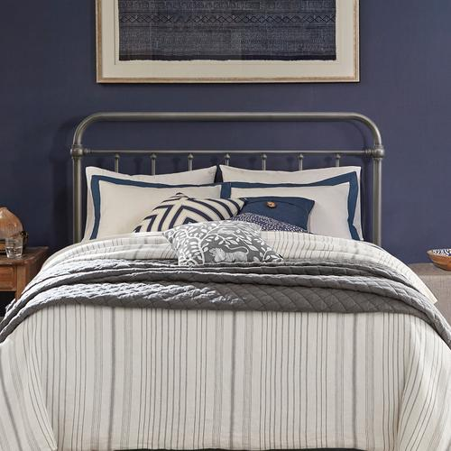 Kirkland Metal Full/queen Headboard Without Frame, Aged Pewter