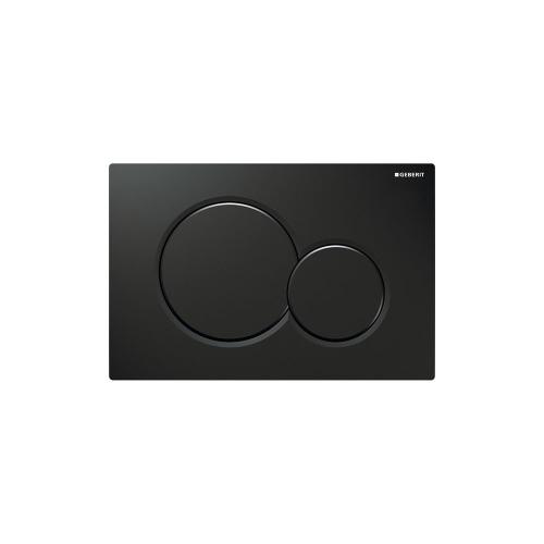 Sigma01 Dual-flush plates for Sigma series in-wall toilet systems Jet black NEW! Finish