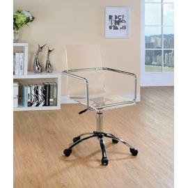 See Details - Contemporary Clear Acrylic Office Chair