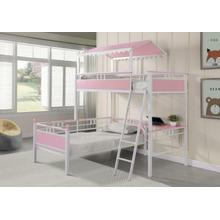 See Details - Twin/twin Workstation Bunk Bed