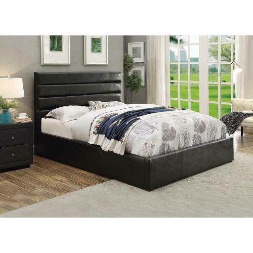 Riverbend Casual Black Eastern King Storage Bed