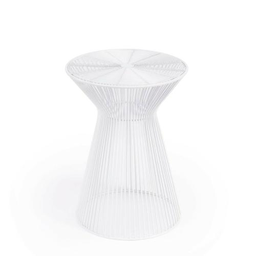 An irresistible design aesthetic, this End Table spreads out strands of iron from the smallest band of three ™ the waist band ™ to create the illusion of a human silhouette. It's guaranteed to add excitement and enhance the look of most any modern