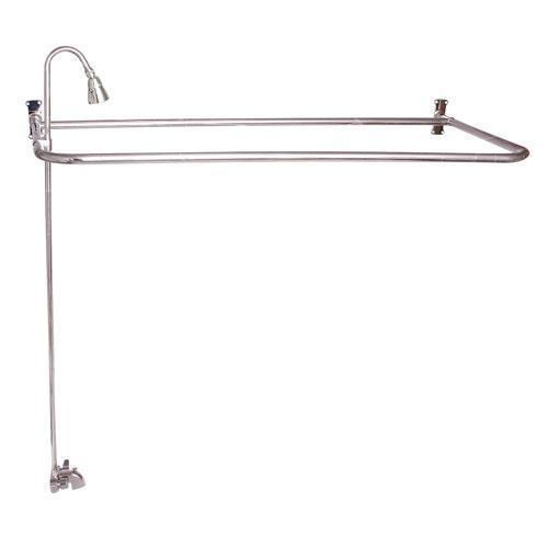 "Rectangular ""D"" Shower Unit - Polished Nickel / 60"" x 26"""