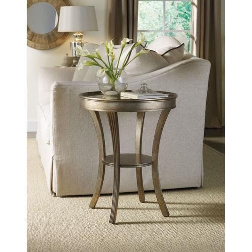 Living Room Sanctuary Round Mirrored Accent Table - Visage