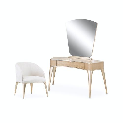Vanity Desk Mirror & Chair 3pc