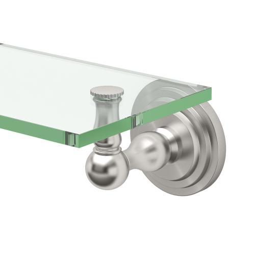 Marina Glass Shelf in Satin Nickel