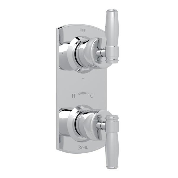 "Polished Chrome Zephyr 1/2"" Thermostatic/Diverter Control Trim with Metal Lever Zephyr Series Only"