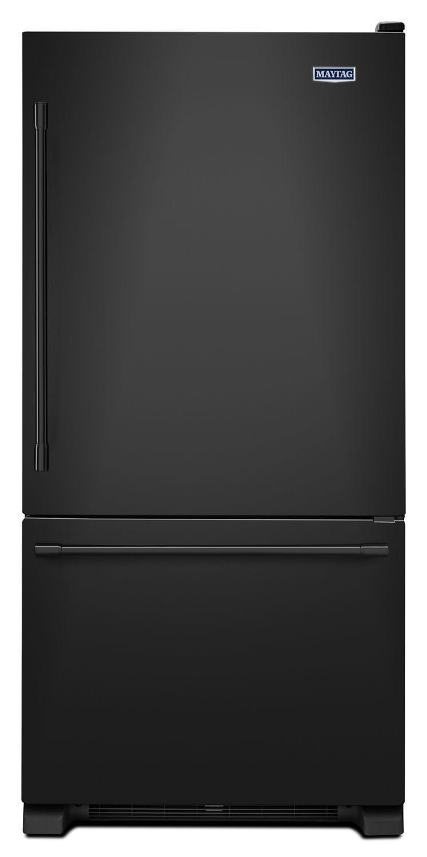 Maytag33-Inch Wide Bottom Mount Refrigerator - 22 Cu. Ft. Black
