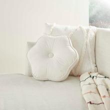 "Sofia Qy068 Cream 16"" X Round Throw Pillow"